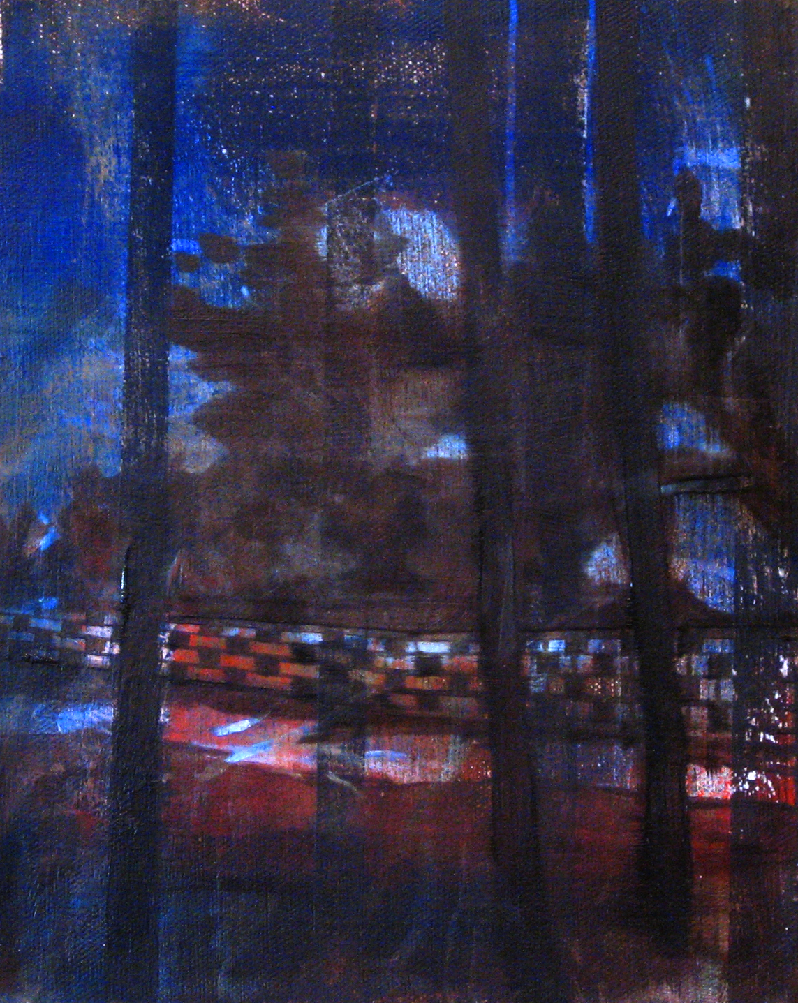Night Walk   10 x 8  Oil On Canvas  2010