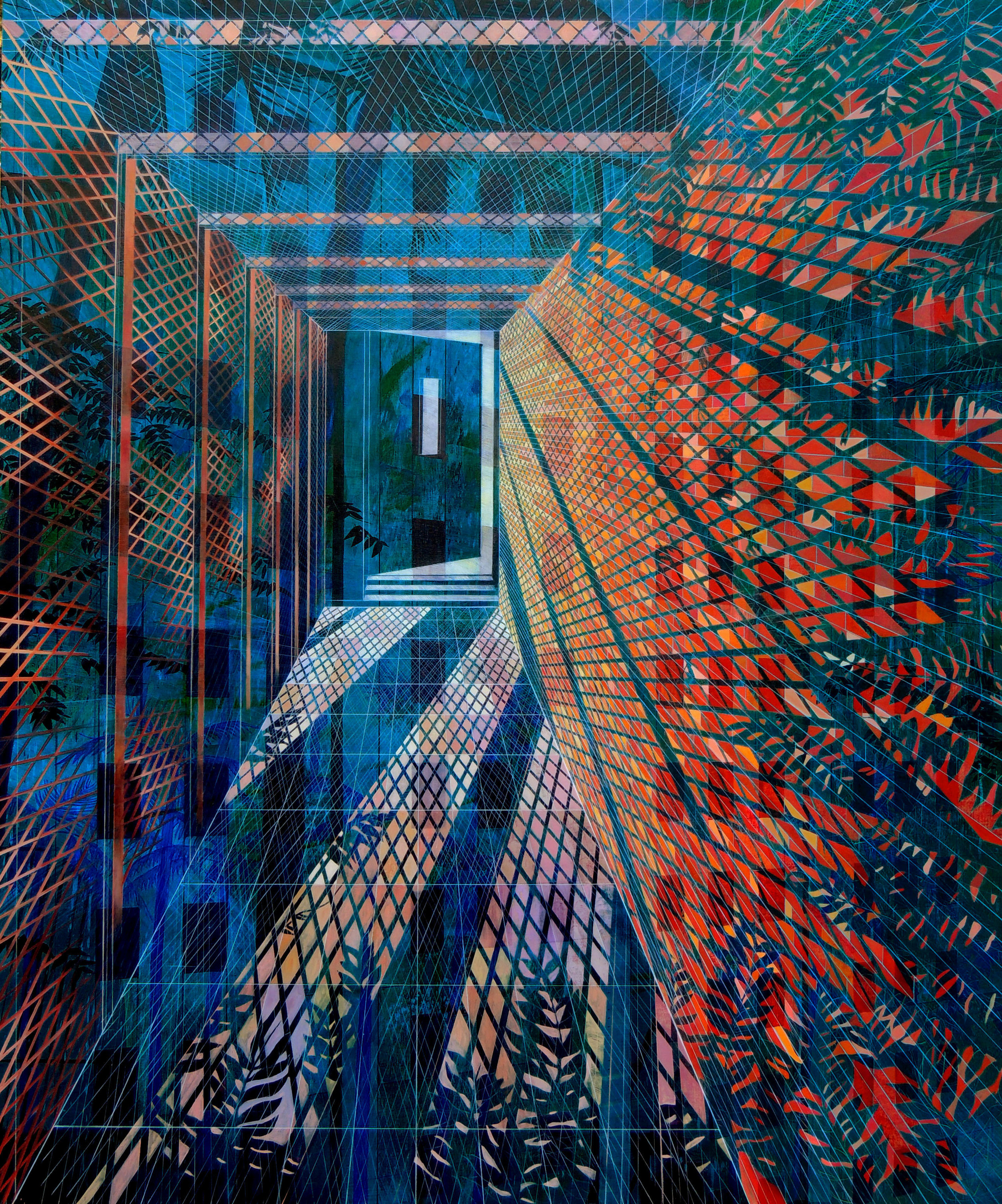 Isla Vista Dorms   72 x 60  Oil on Canvas  2014