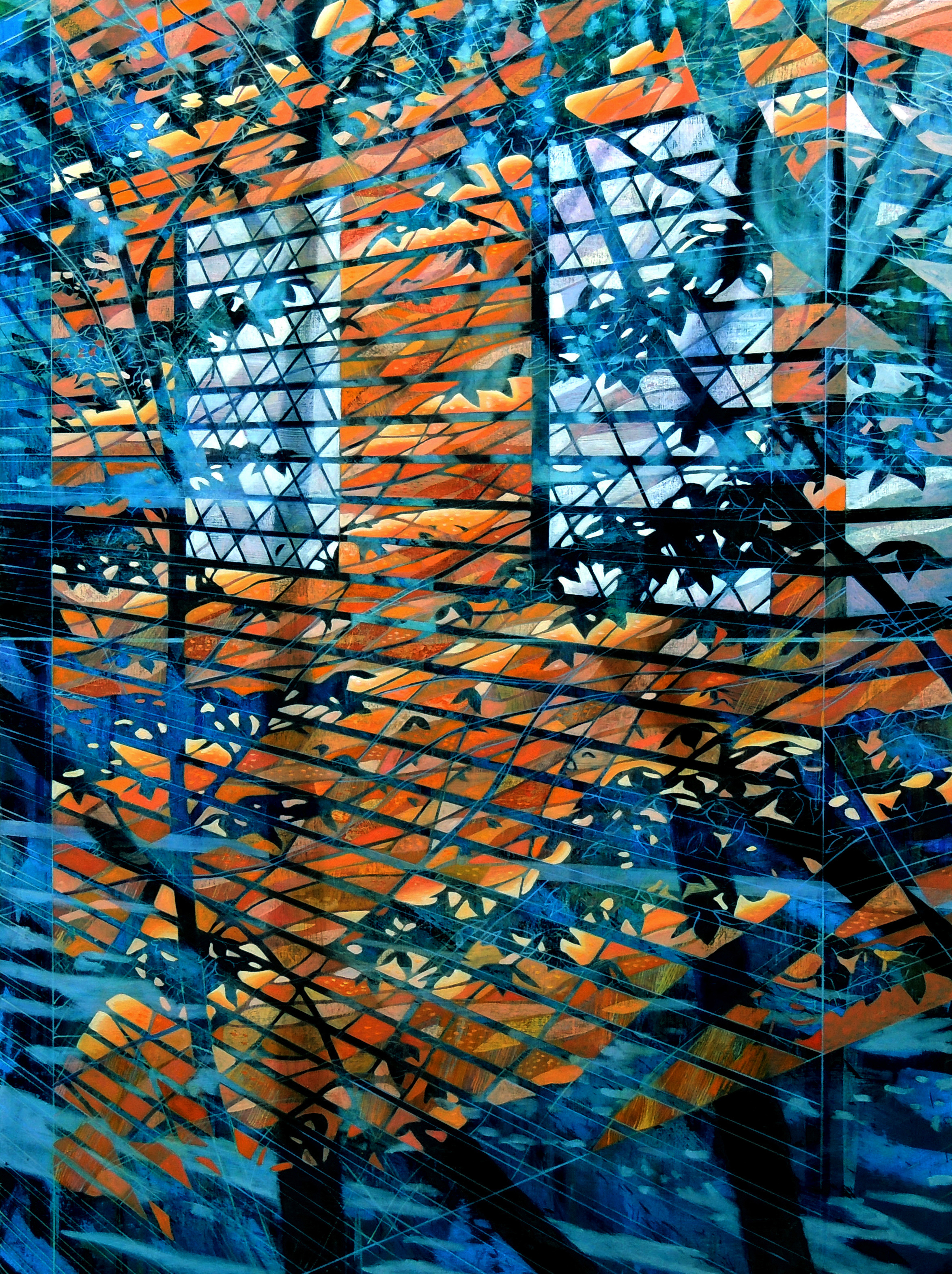 San Mateo Wall   48 x 36  Oil on Canvas  2014