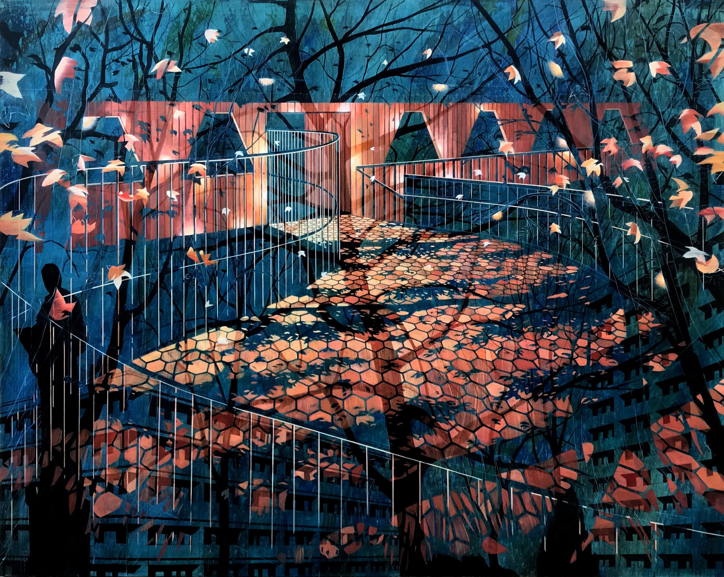 Night Path  48 x 60  2017  Oil On Canvas
