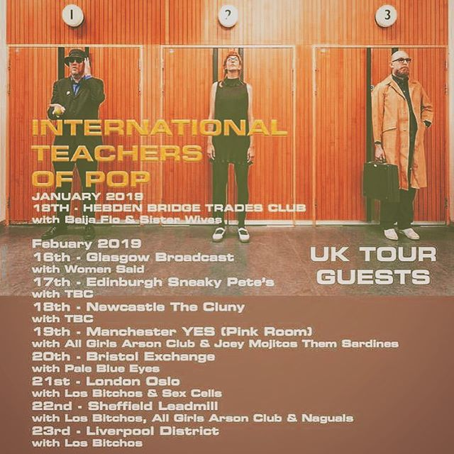 First @pbemusic show of 2019 opening for Sheffield legends @international_teachersofpop @exchangebristol 20th Feb 🥳 xx