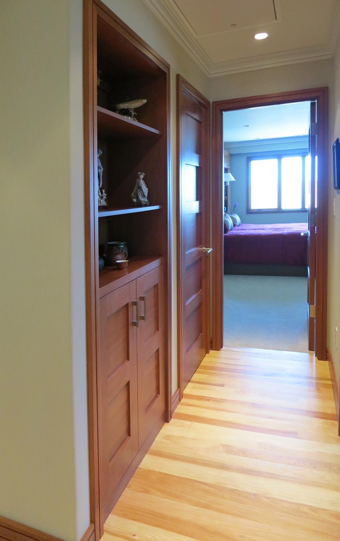 Built in Storage in Hallway