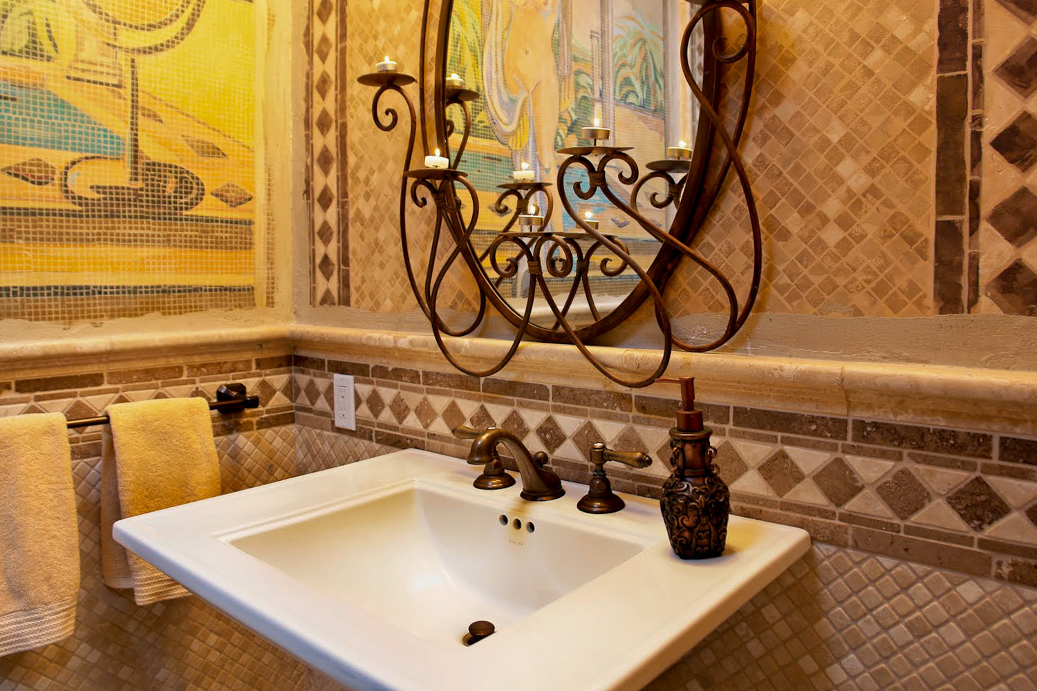 Mediterranean Tiled Bathroom
