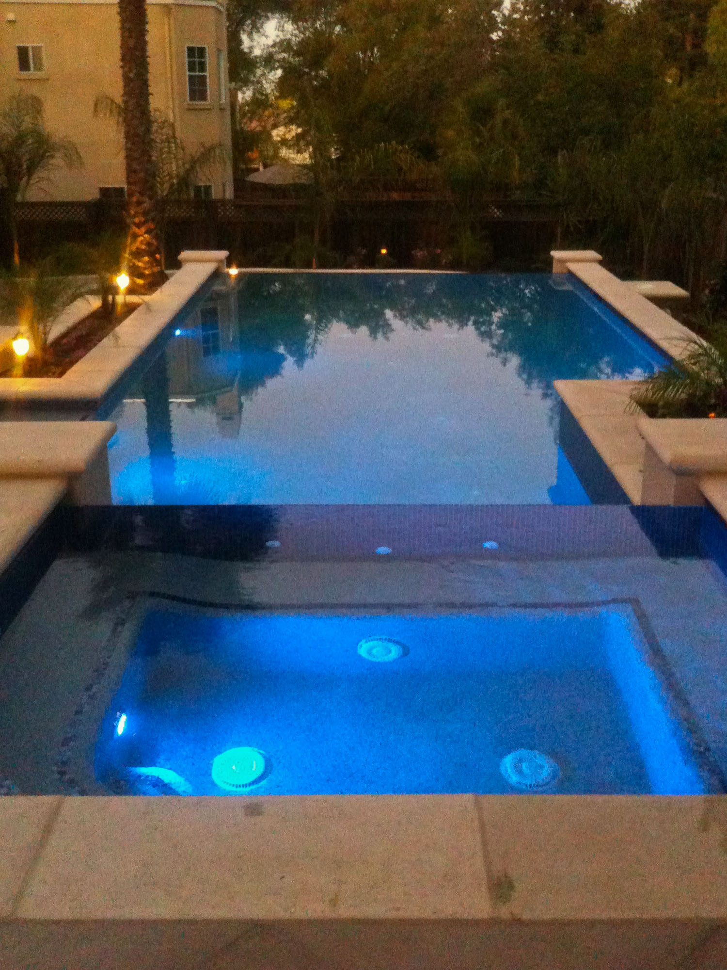 Terraced Pool at Dusk