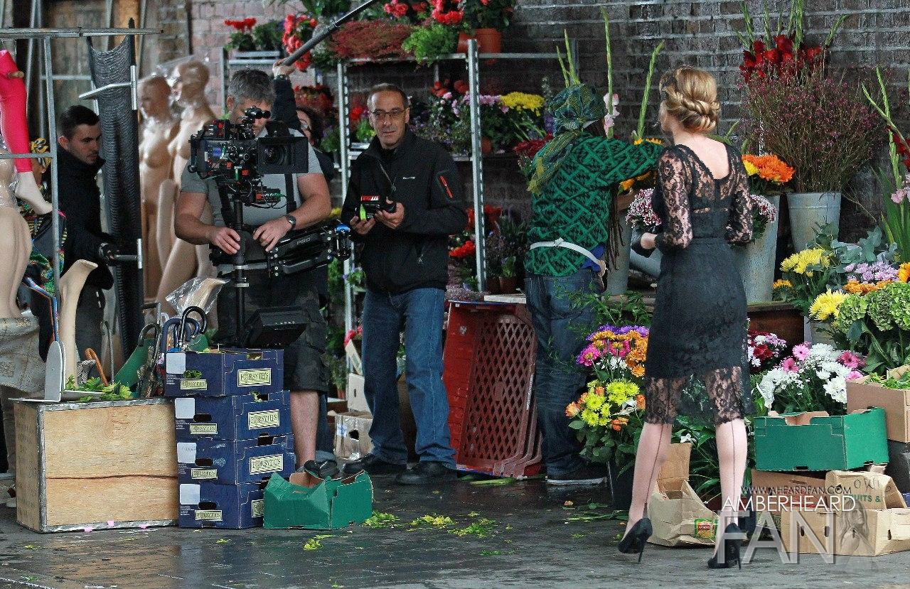 Paparazzi shot on London Fields with Amber Heard