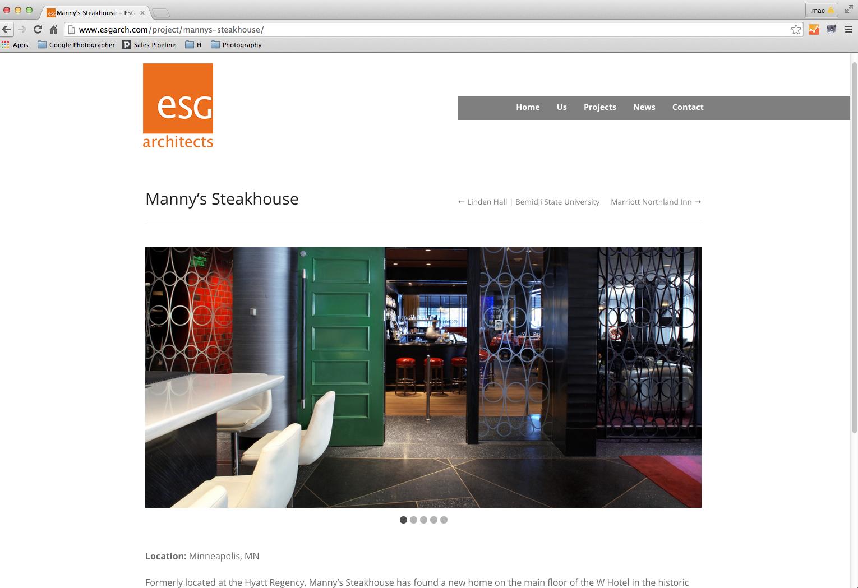 ESG Architects - Manny's Restaurant