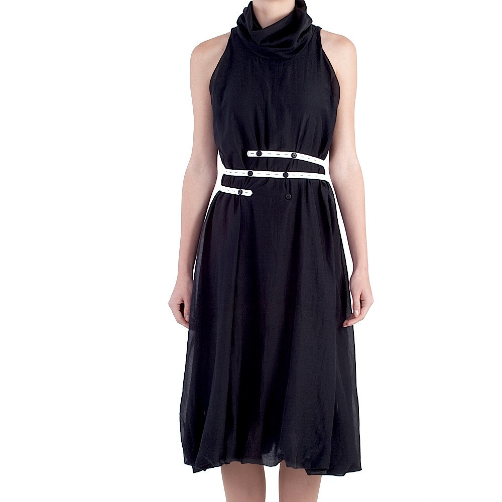 Black Chiffon Dress - Mayda