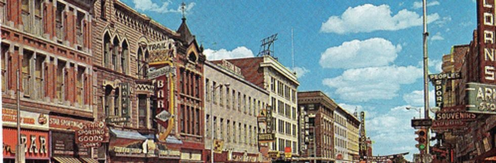 Downtown Cheyenne in the old days, and still kind of now.
