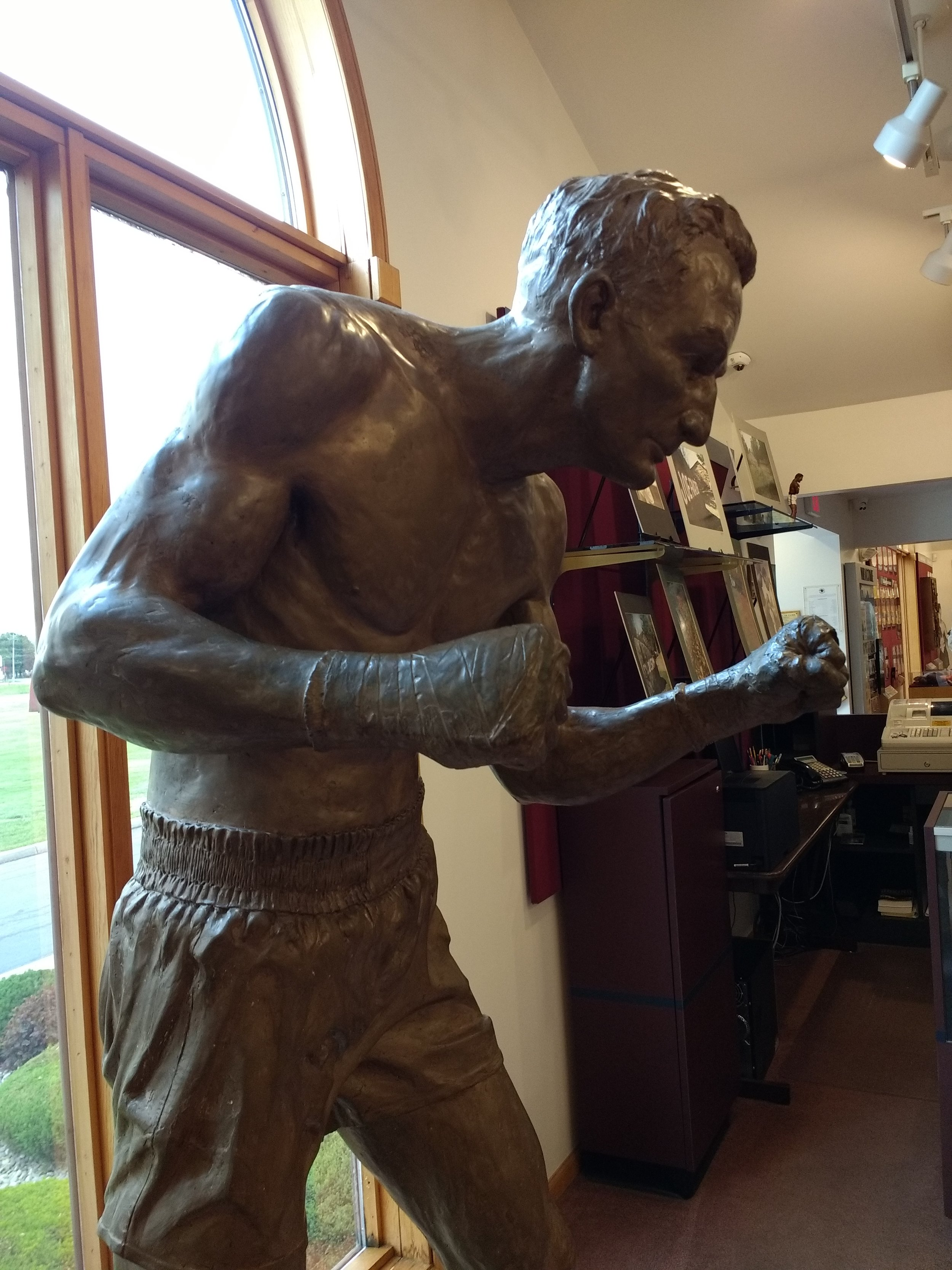 The great  Carmen Basilio . Fighting stances have changed so much!