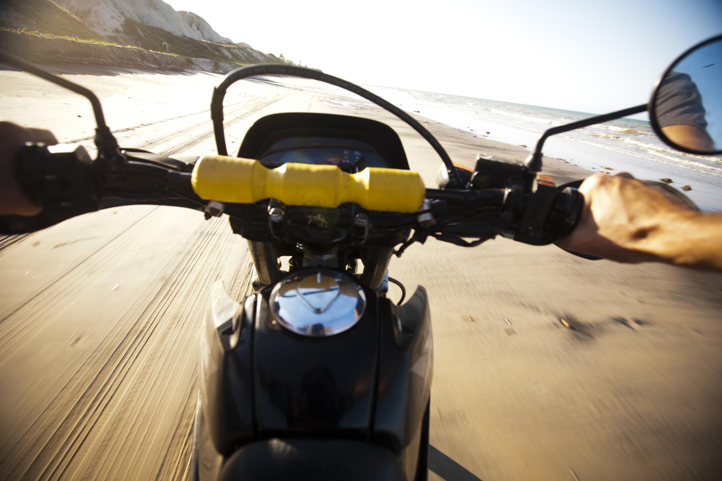 Motocross trip on the beach from Canoa Quebrada to Ponte Grosse