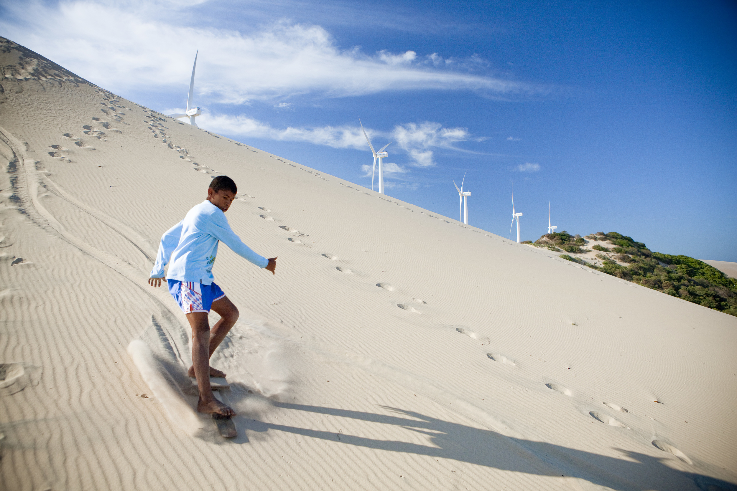 In the Dunes by the Wind Turbines (Sunset Dune)