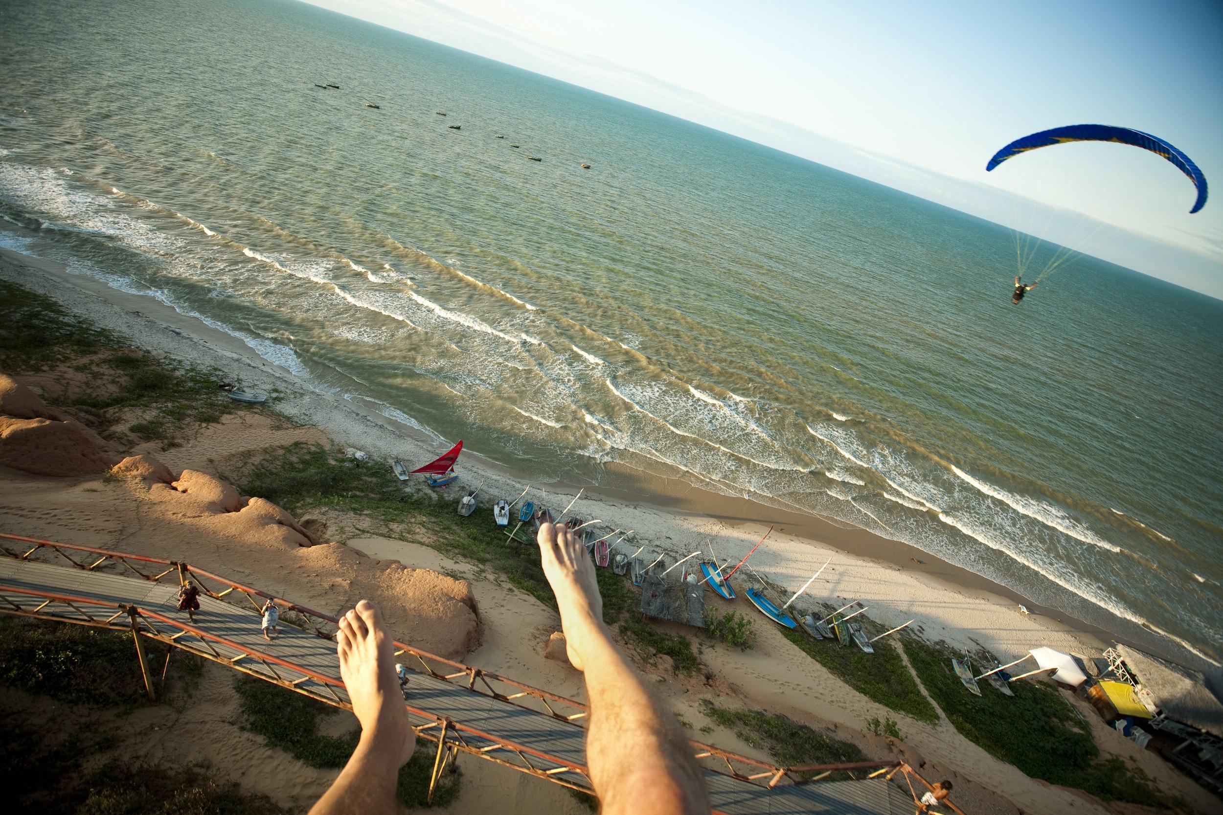 Paragliding over Canoa Quebrada