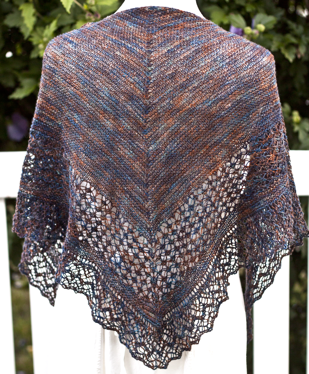 Rock Island Shawl - Saluki, The Quick Brown Fox Jumps Over The Lazy Dog