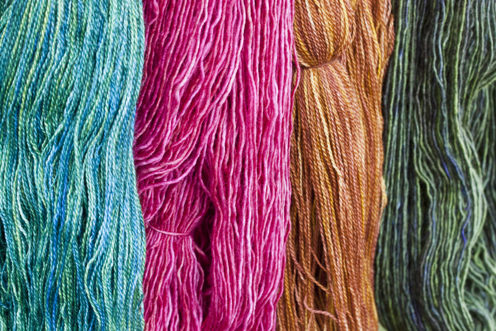 A sample of the yarns that will be available for sale.