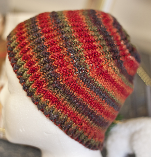 This was the first time I had knit with any of my handspun, and it's my favorite hat!