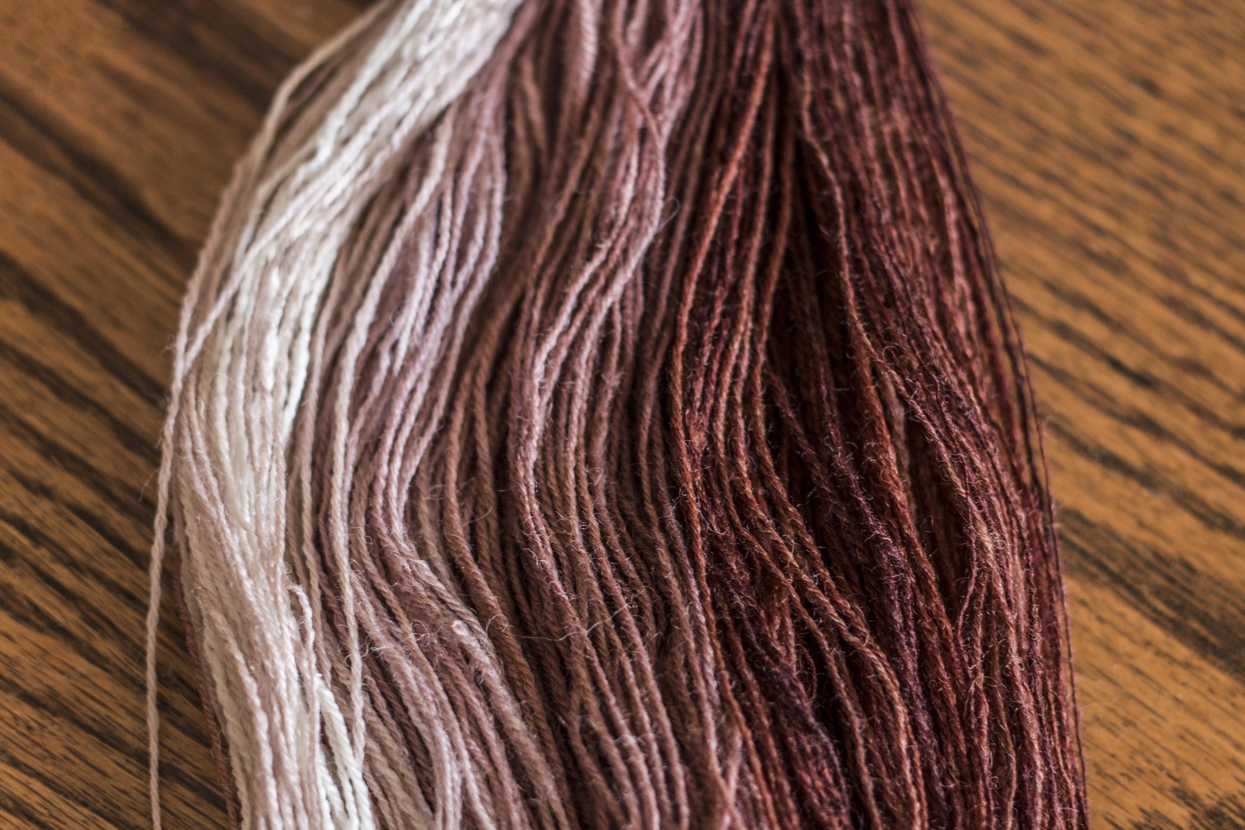 Gradient handspun yarn