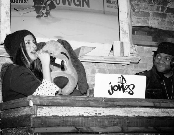 Angie Taylor (KISS FM) & DJ D. Jones at the 2014 Team PAWS Kick Off Event