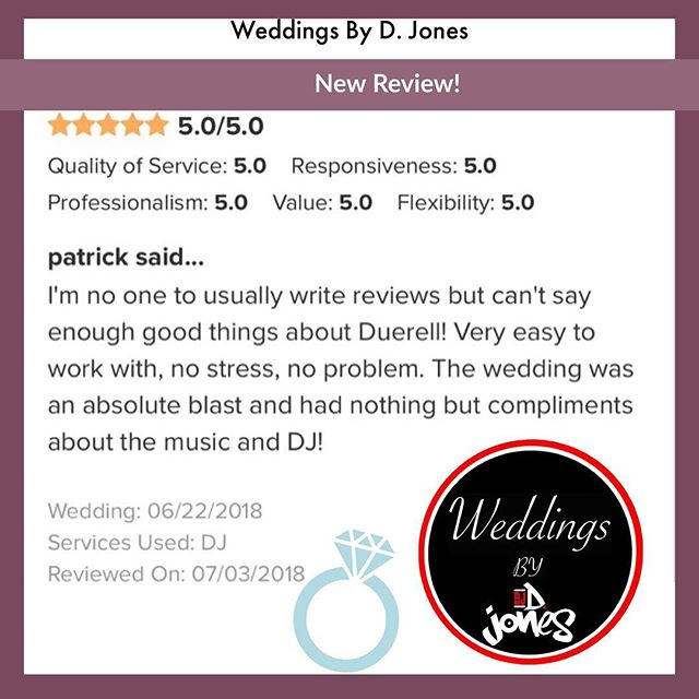 The focus is on giving each wedding client 110% from the first email to the last song. Thank you for giving me the opportunity to serve 💍