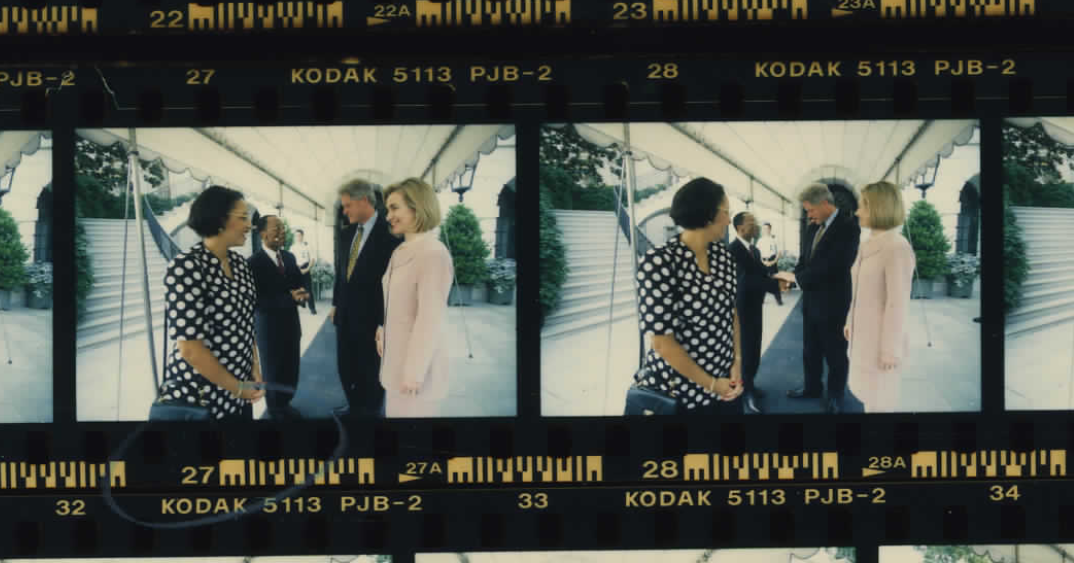 Jean-Bertrand Aristide at the White House on June 17, 1996 (Photo sheet: P041464)