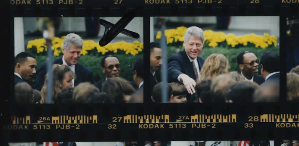 Bill Clinton and Jean-BertrandAristide at White House on October 14, 1994 (Photo sheet: P020777)