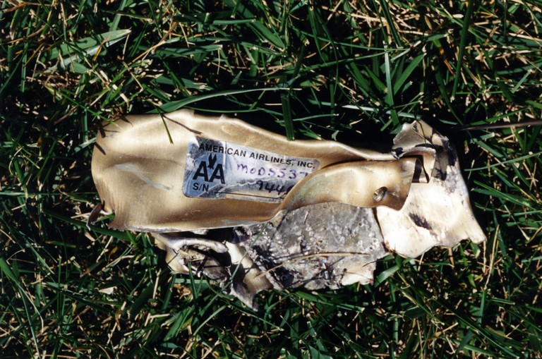 Debris from the attack on the Pentagon on September 11, 2001 (Photo: FBI)