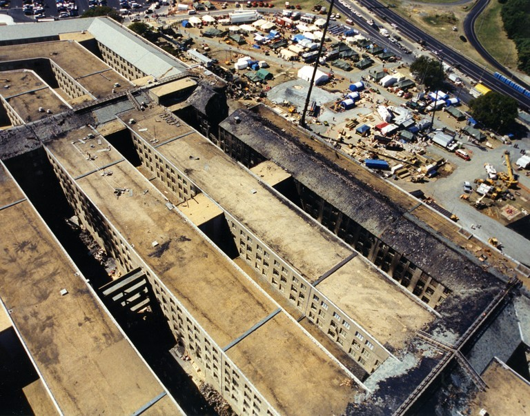 The Pentagon on September 11, 2001 (Photo: FBI)