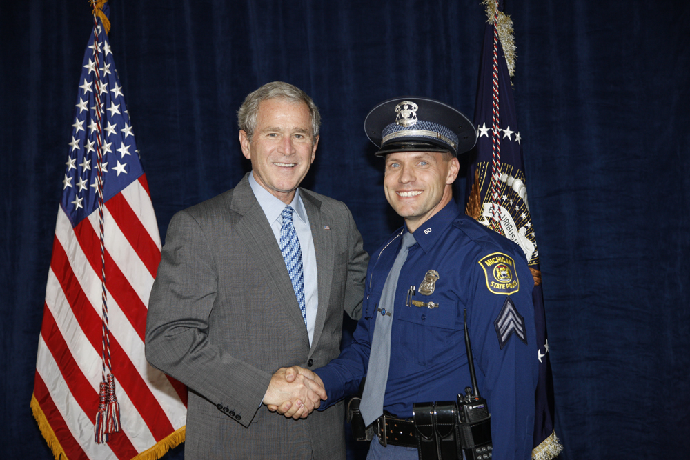 M1Hi_j0162_1 10/15/2008 Police Photos (George W. Bush Presidential Library and Museum)