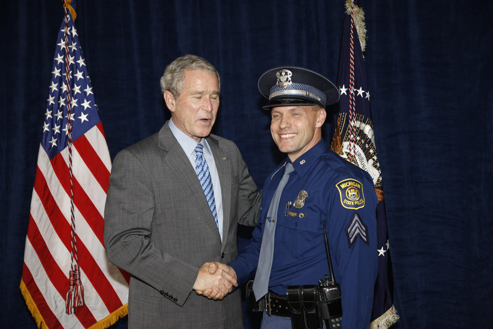 M1Hi_j0164_1 10/15/2008 Police Photos (George W. Bush Presidential Library and Museum)