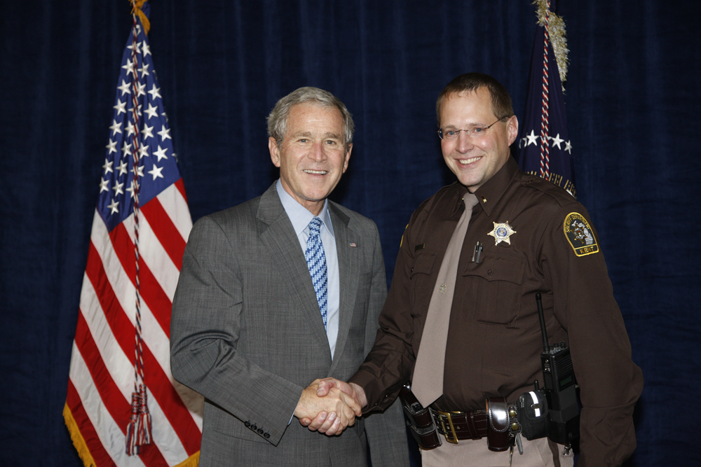M1Hi_j0182_1 10/15/2008 Police Photos (George W. Bush Presidential Library and Museum)