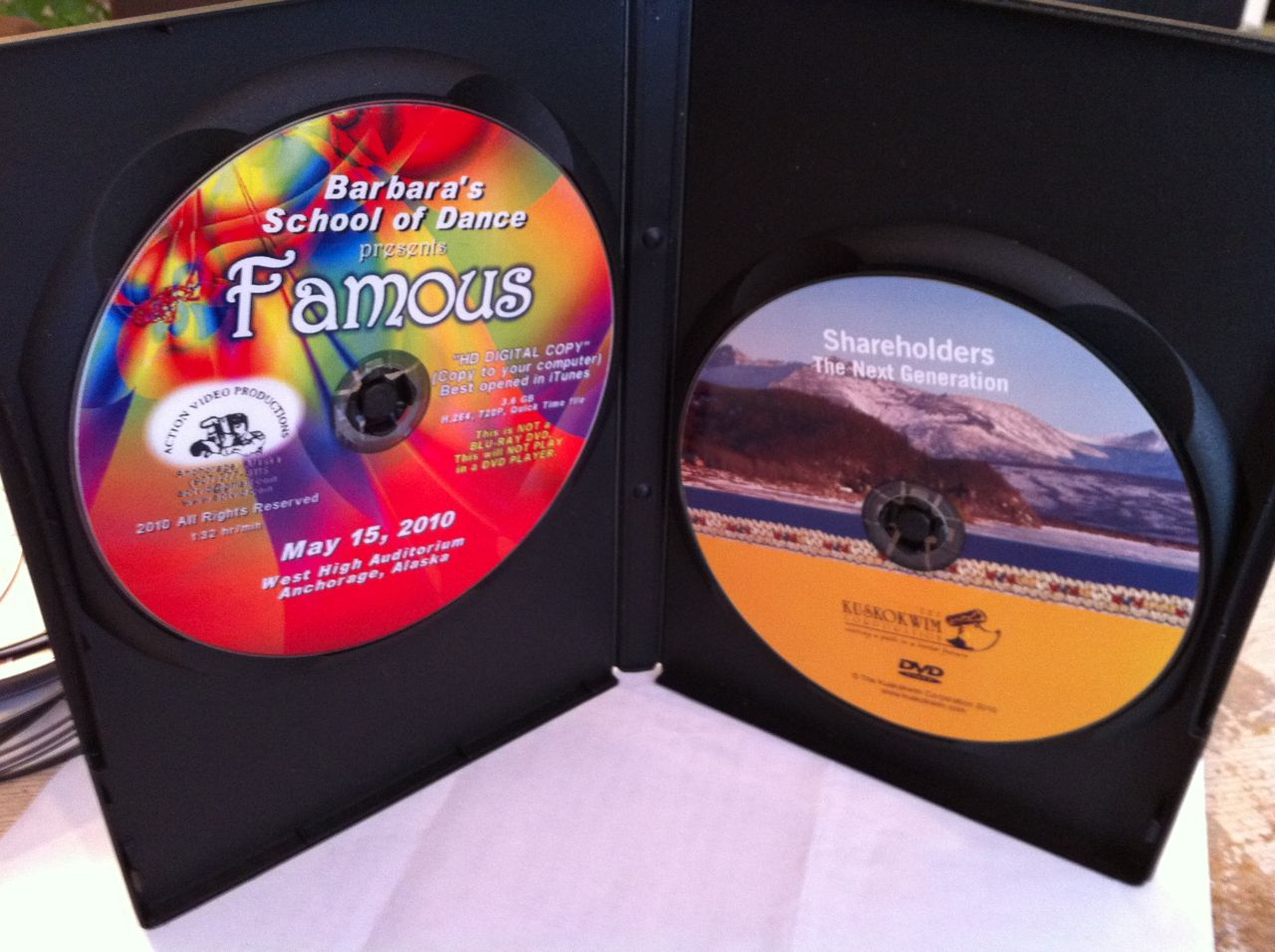 DVD & Digital Disc packaging and Thermal Disc labels. Graphic insert DVD keepcase packaging