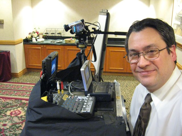 Small basic single camera Focus Group recording with multiple microphones recorded to DVD, MP4 and live streaming.