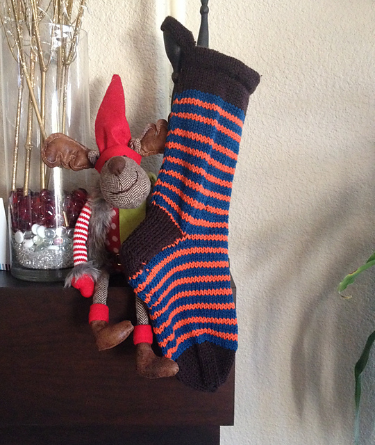ForestPixie  with a cool Chocolate, Sapphire and Orange Peel stocking