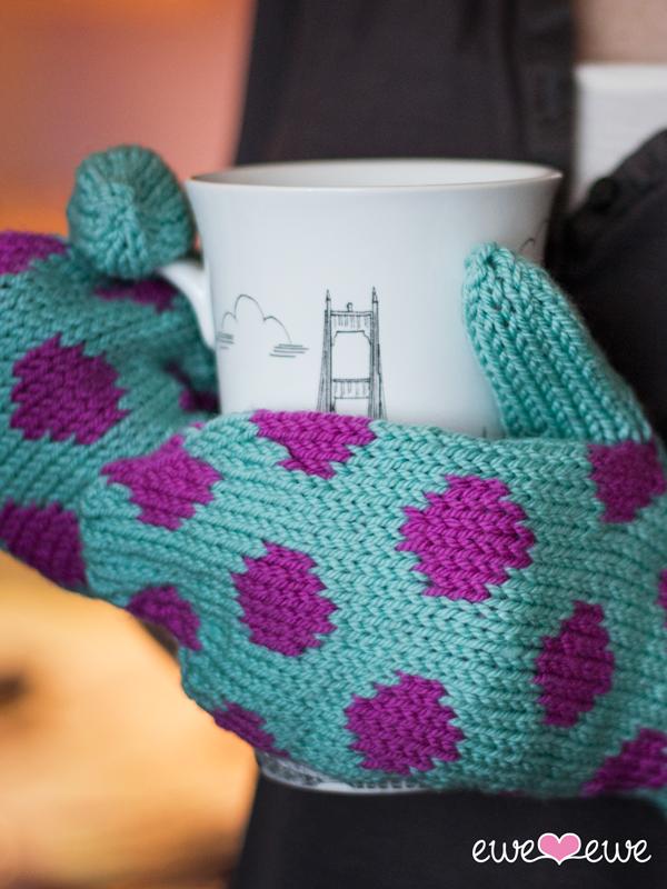 8. Hot Spot Mittens  stranded  knitting pattern