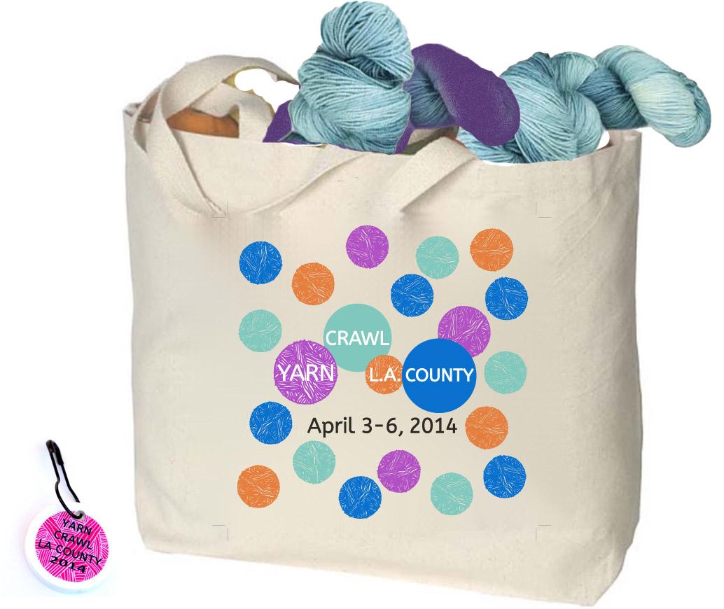 Yarn Crawl LA 2014 Tote Bag