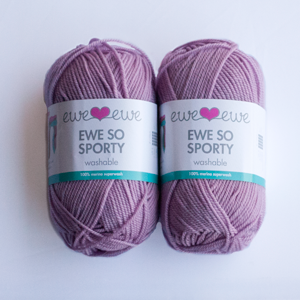 Ewe So Sporty yarn in Lavender
