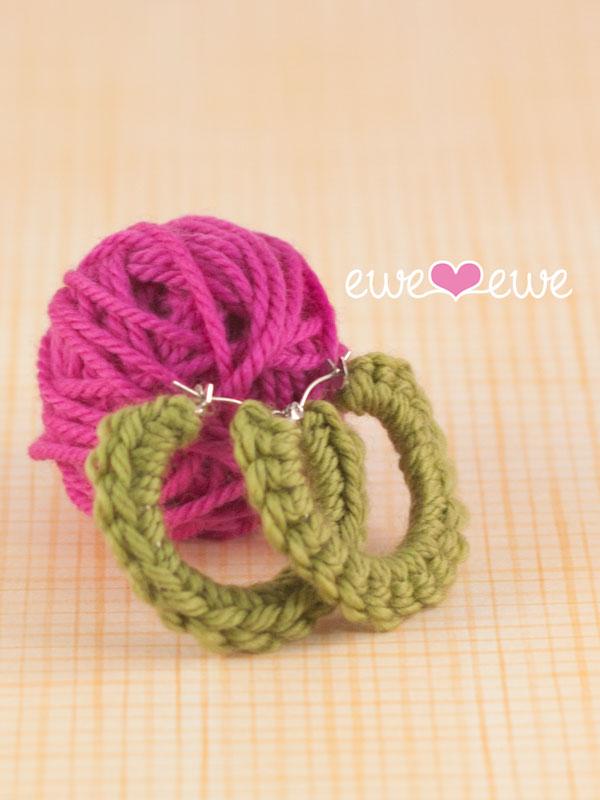 Quick Crochet Hoop Earrings free crochet pattern