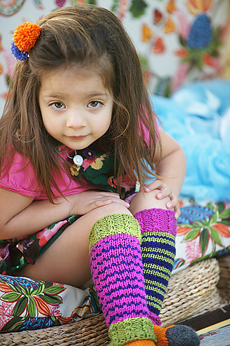 Legwarmers  knitting pattern by Kate Oates,  Knitting Clothes Kids Love