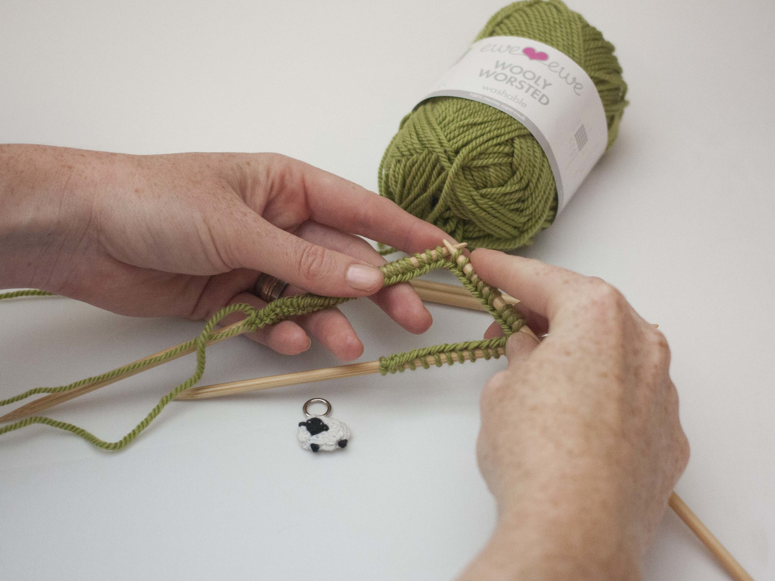 casting on to double-pointed needles