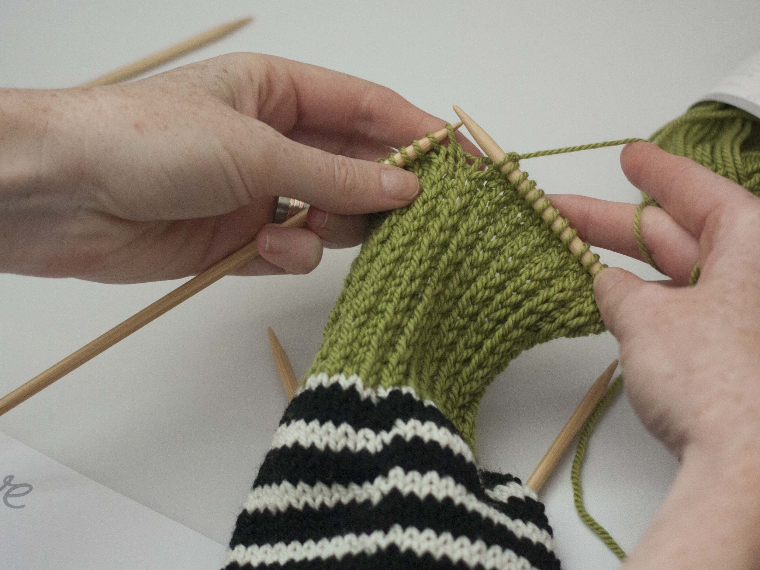 how to knit the heel of a sock