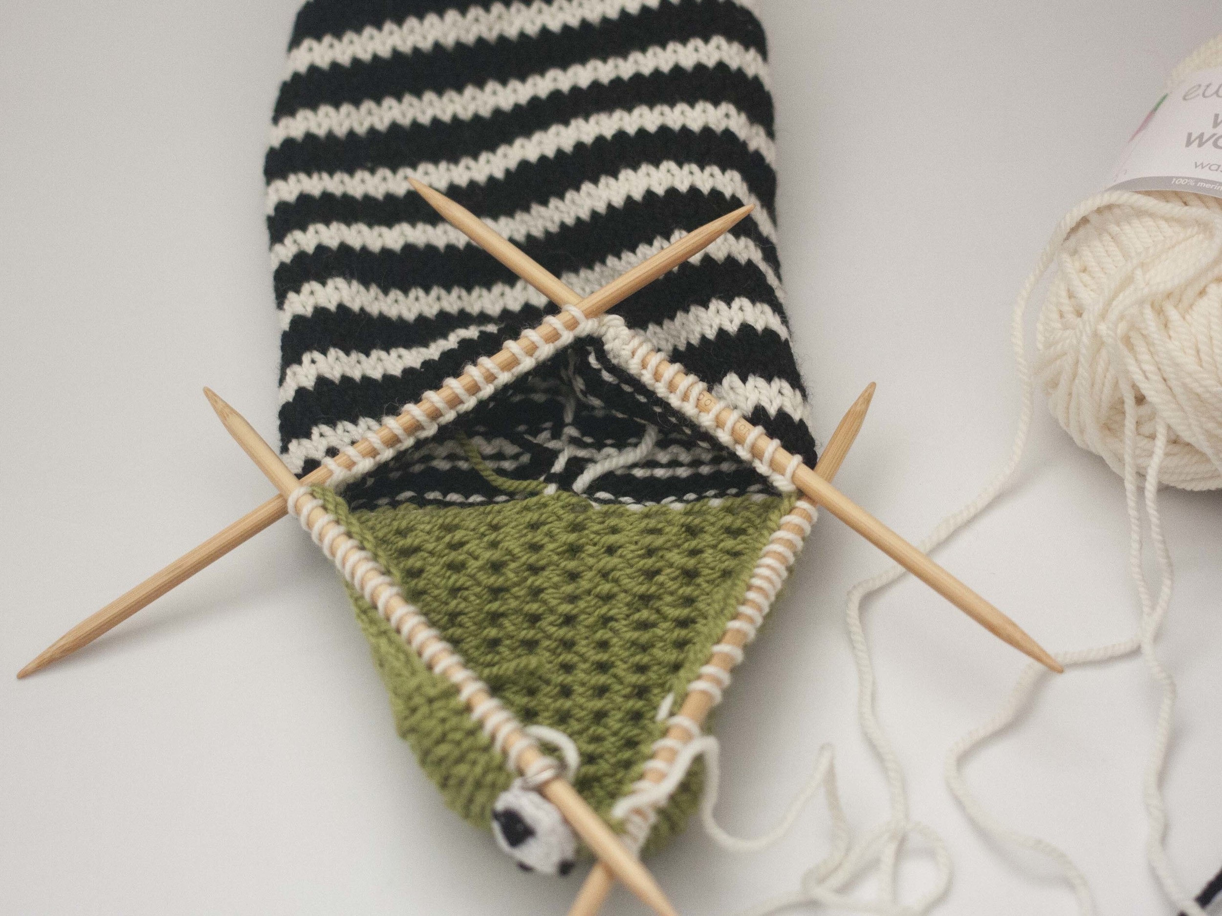 turning the heel of a sock