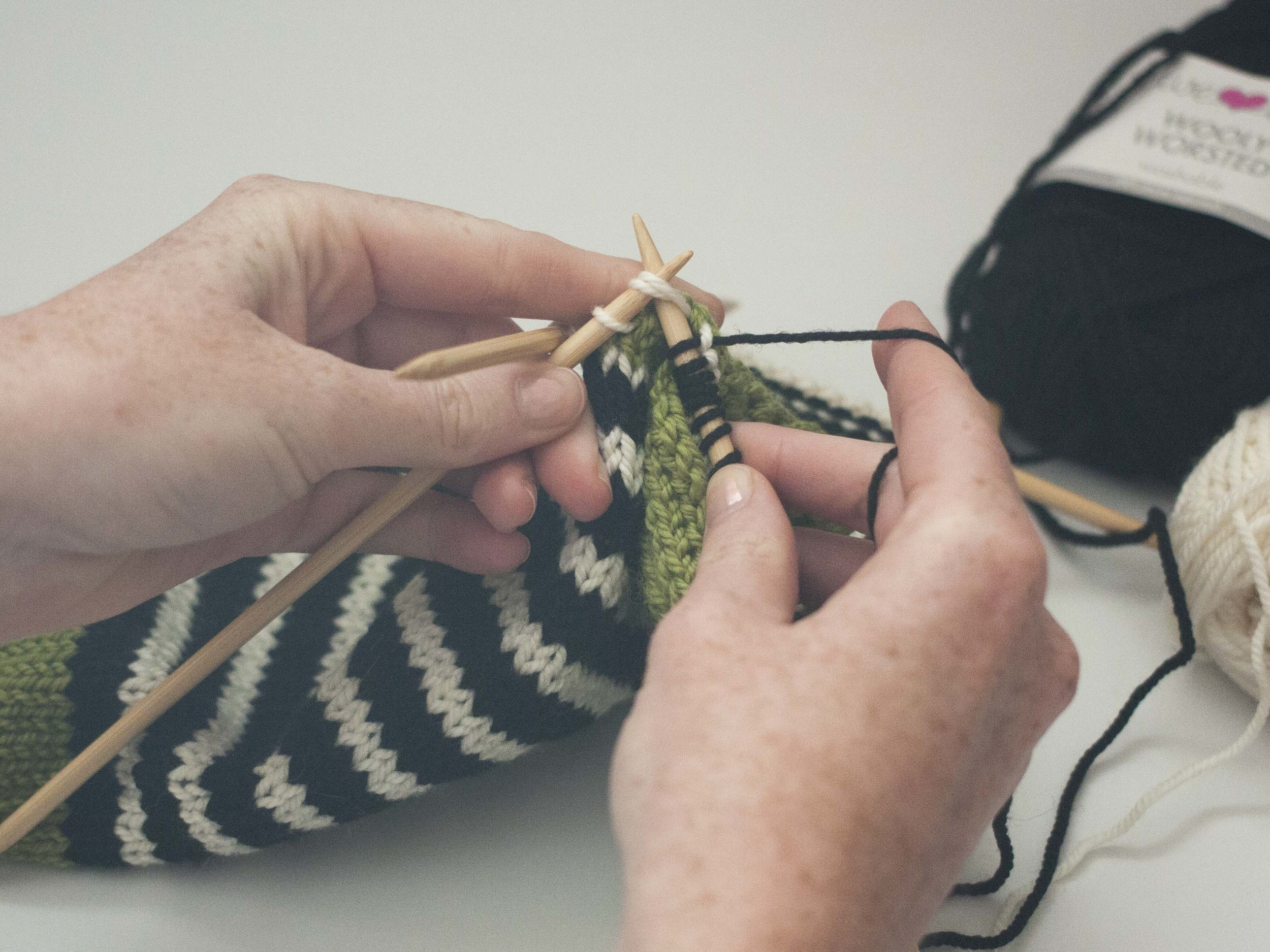decreasing the heel of a sock