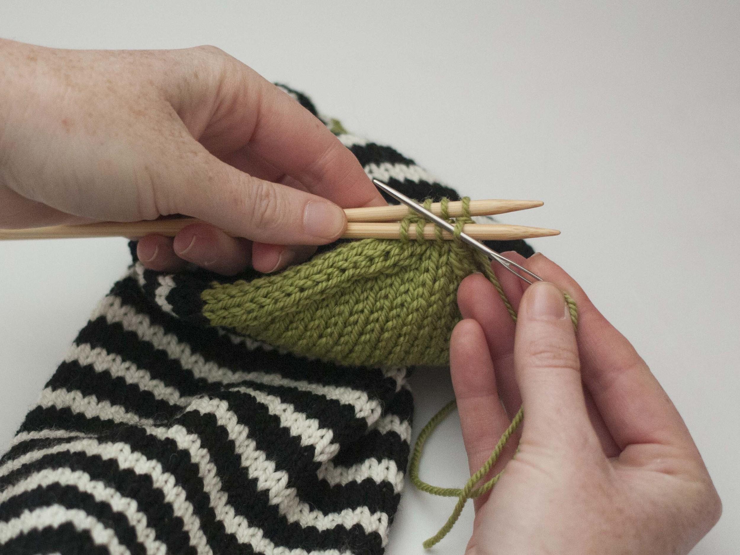 How to knit Kitchener Stitch