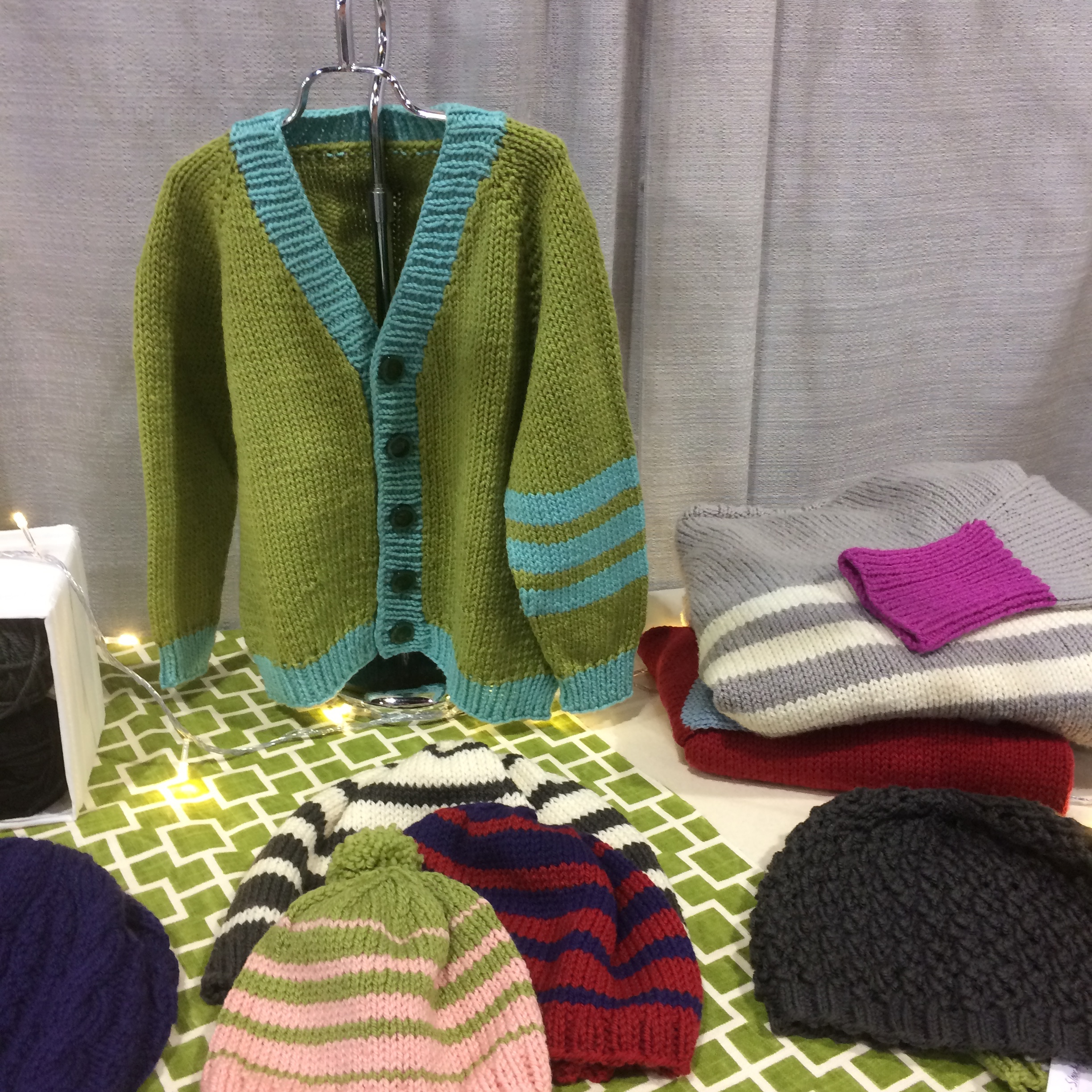 children's sweater at trade show