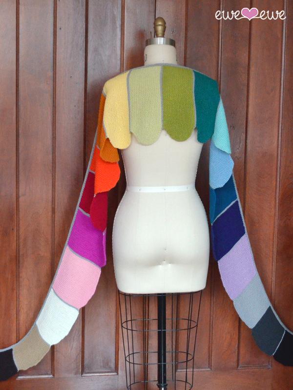 Rainbows & Unicorns shawl