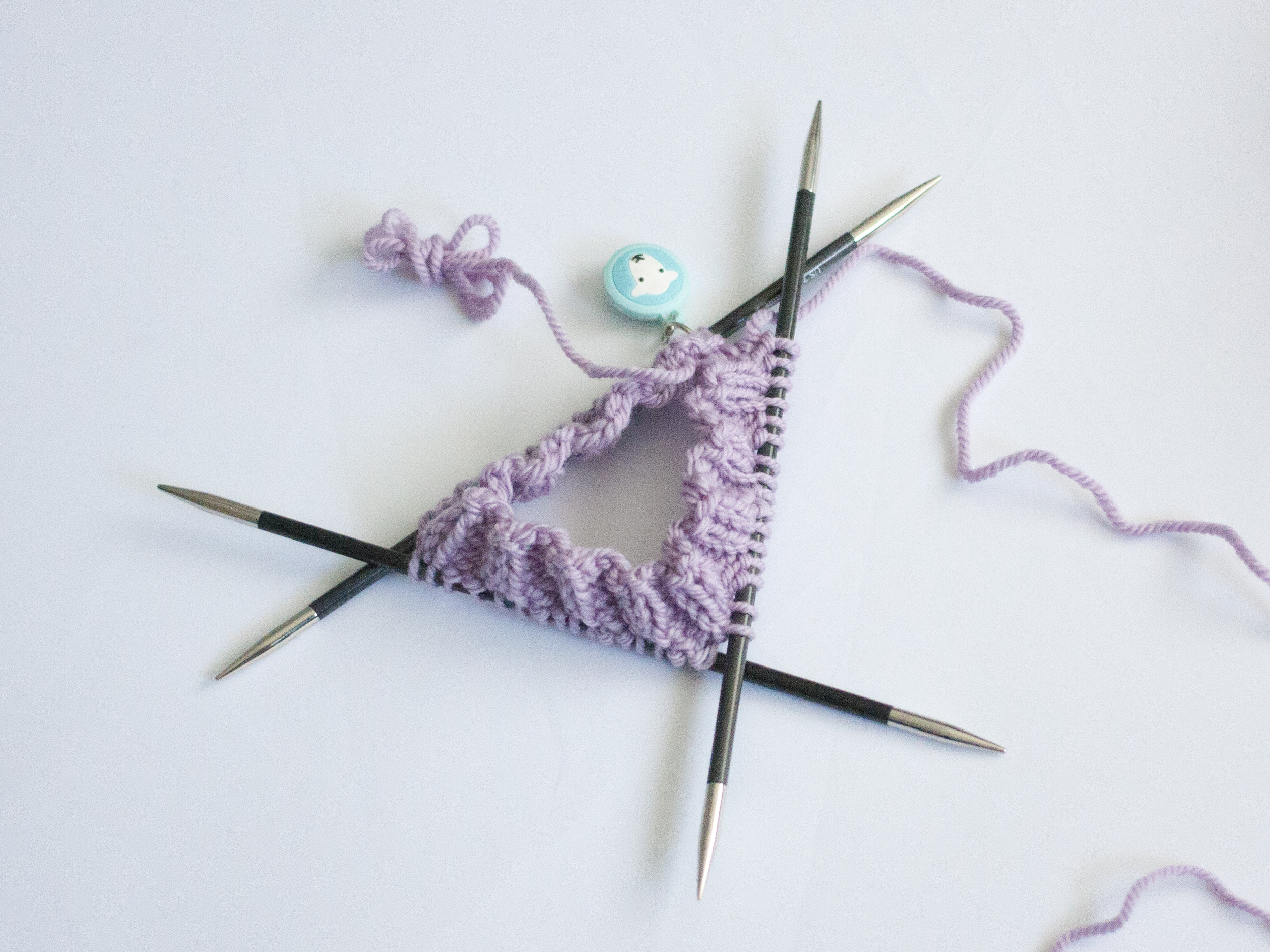 five rounds of knitting