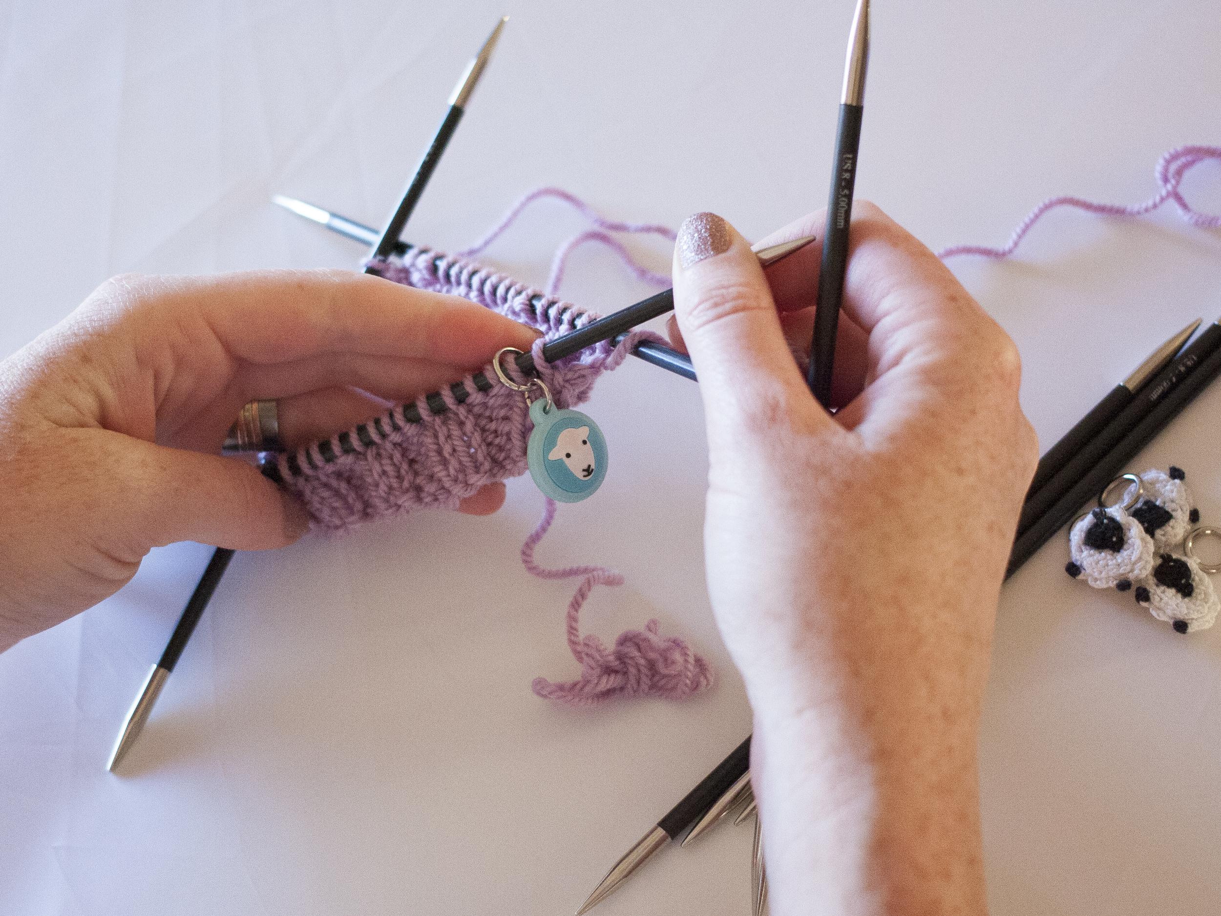 Adding stitch markers