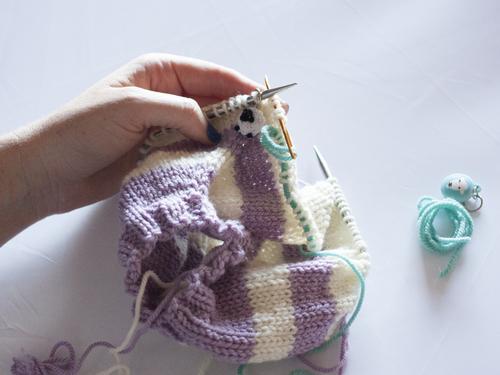 Day 3: Dividing for sleeves and body — Ewe Ewe Yarns