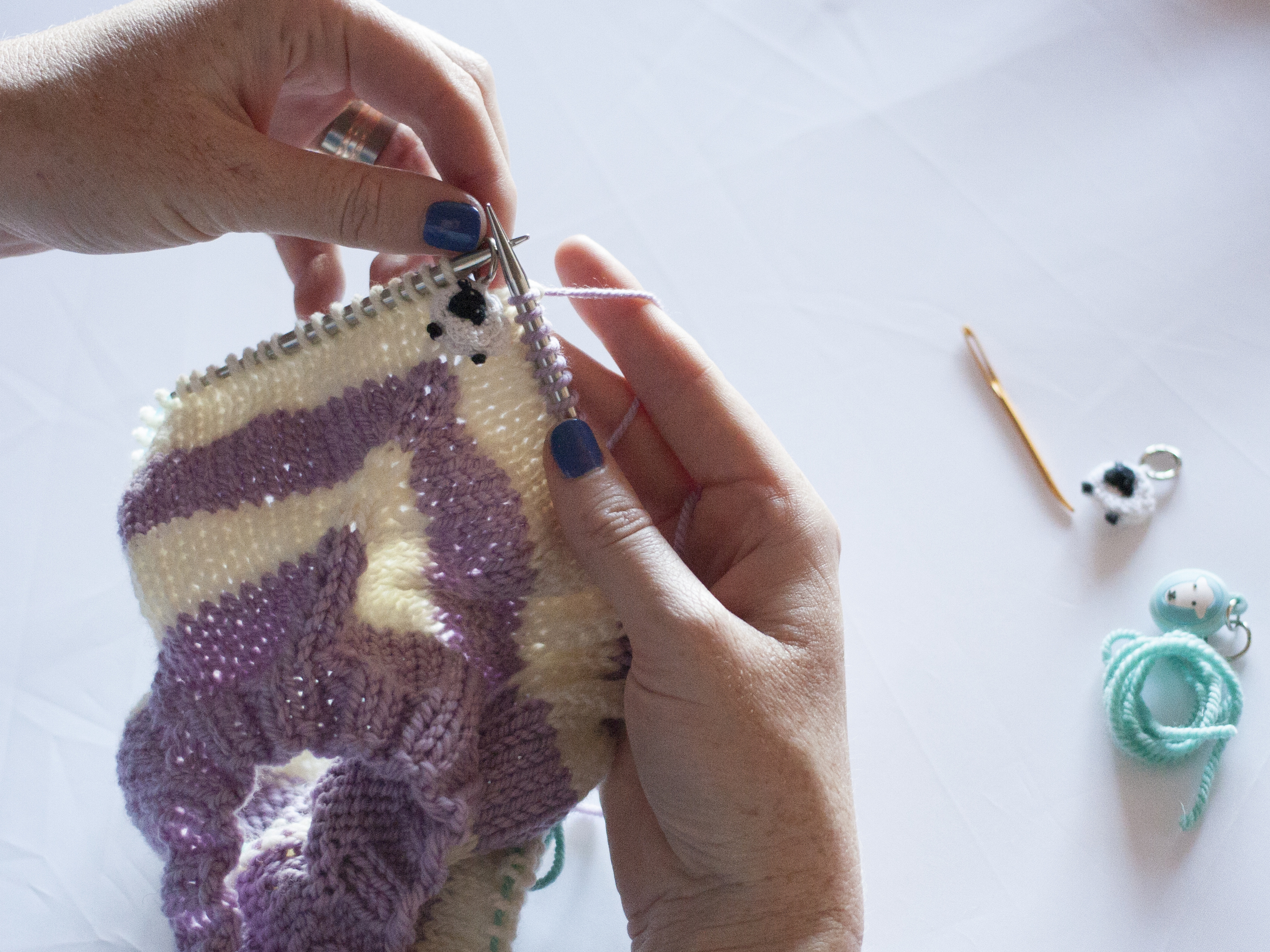 Knit to the next marker