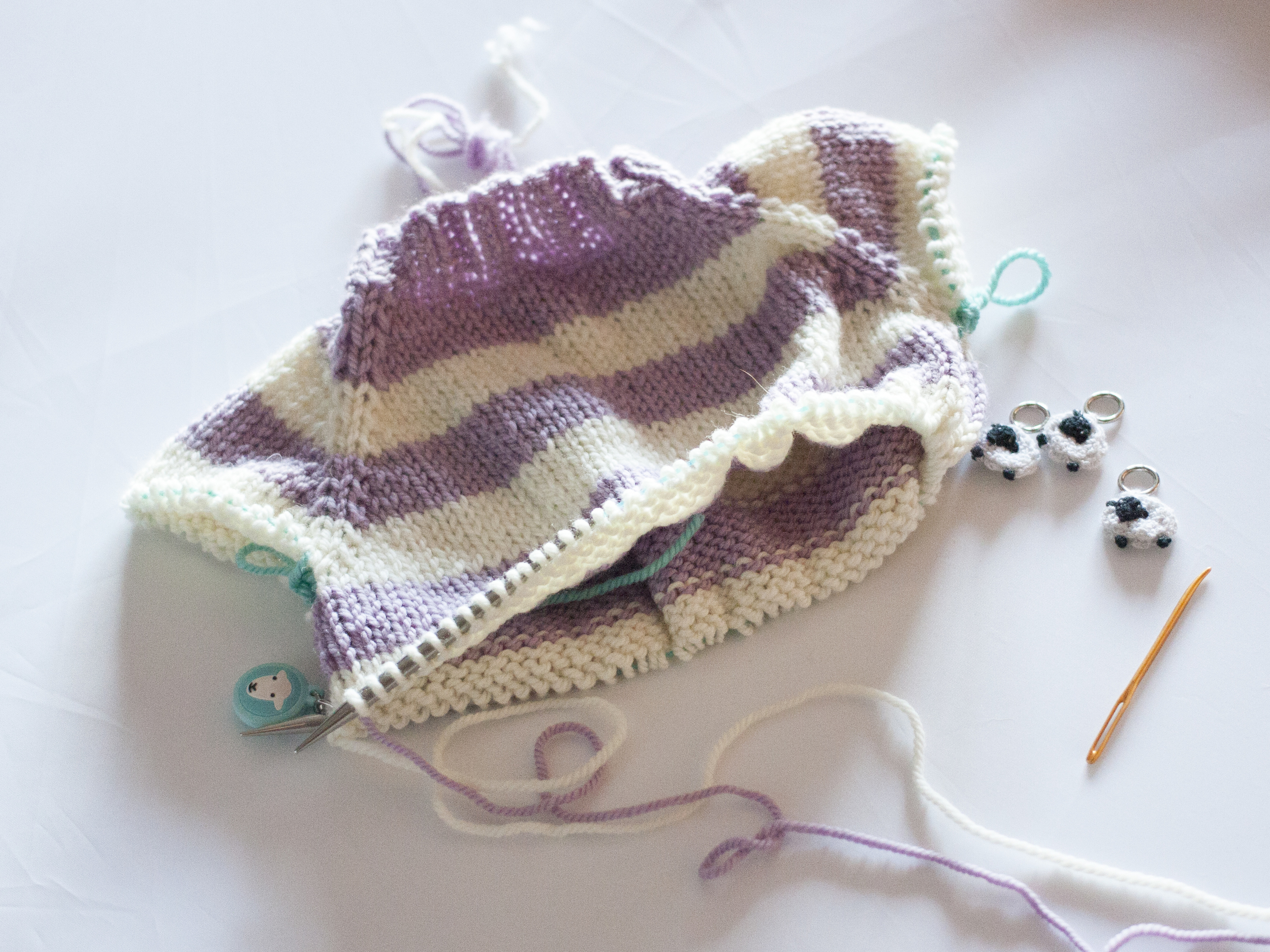 Knit down the body