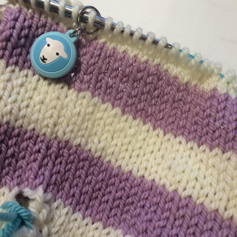 Jog-less stripes in knitting. Woohoo!